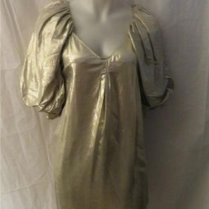 NWT WOMENS STELLA MCCARTNEY SILVER DRESS 40EU-4US